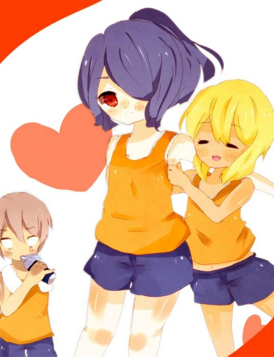 Tags: Anime, Inazuma Eleven, Hayami Maya, Miyasaka Ryou, Kazemaru Ichirouta