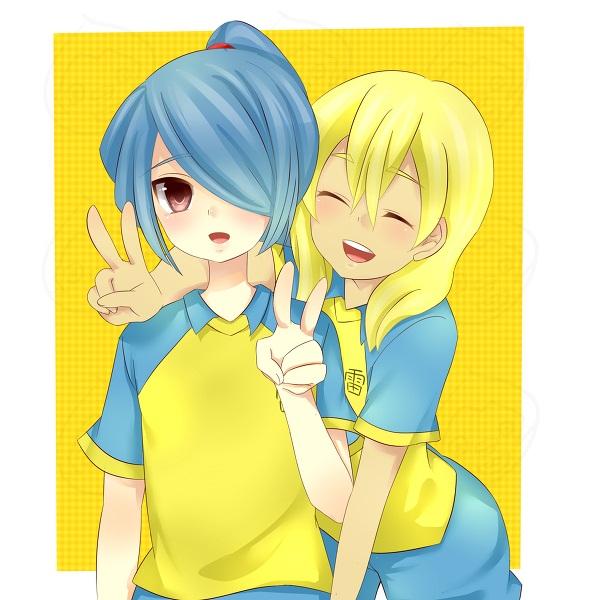 Tags: Anime, Inazuma Eleven, Miyasaka Ryou, Kazemaru Ichirouta, Fanart