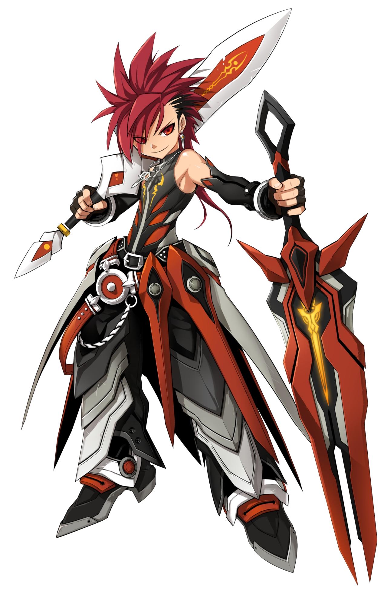 Anime Characters Use Dual Swords : Infinity sword elsword zerochan