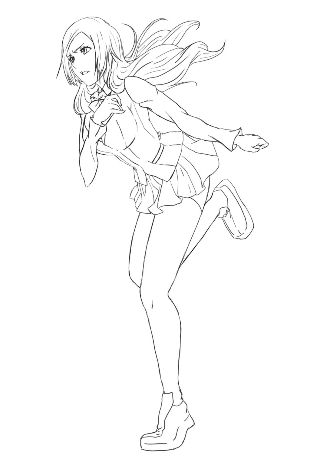 Zerochan Lineart : Inoue orihime bleach image  zerochan anime