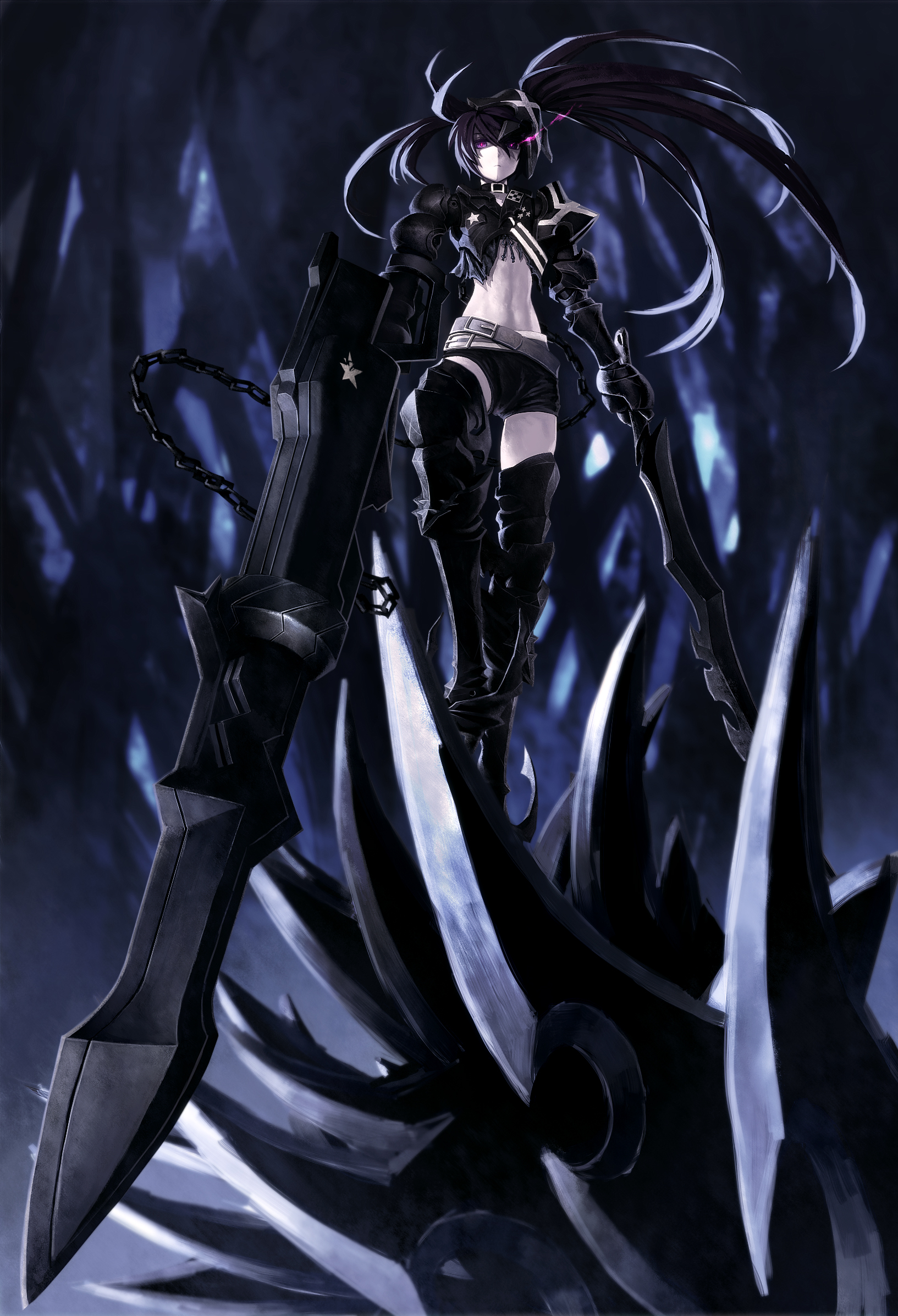 FilterBlackRock Shooter Character Mobile Wallpaper Android Iphone