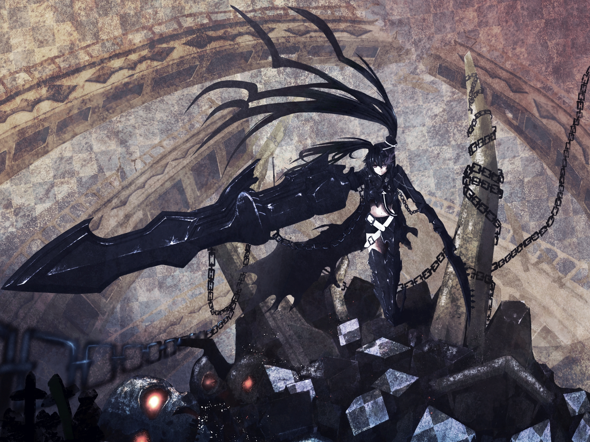 Insane Black Rock Shooter Zerochan Anime Image Board