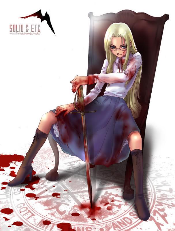 Tags: Anime, Toshimichi Yukari, Geneon Pioneer, HELLSING, Integra Hellsing, Pentagram