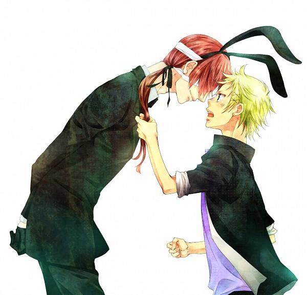 Tags: Anime, Hanagosui, Inu x Boku SS, Watanuki Banri, Natsume Zange, Hand in Hair, Pulling Hair
