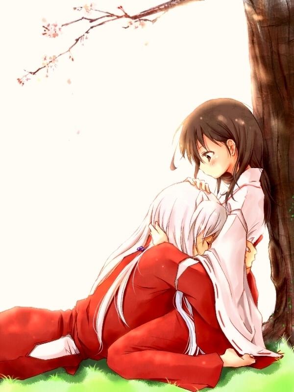 Tags: Anime, Kin'Iro Nyanko, InuYasha, InuYasha (Character), Higurashi Kagome, Fanart, Pixiv, Fanart From Pixiv