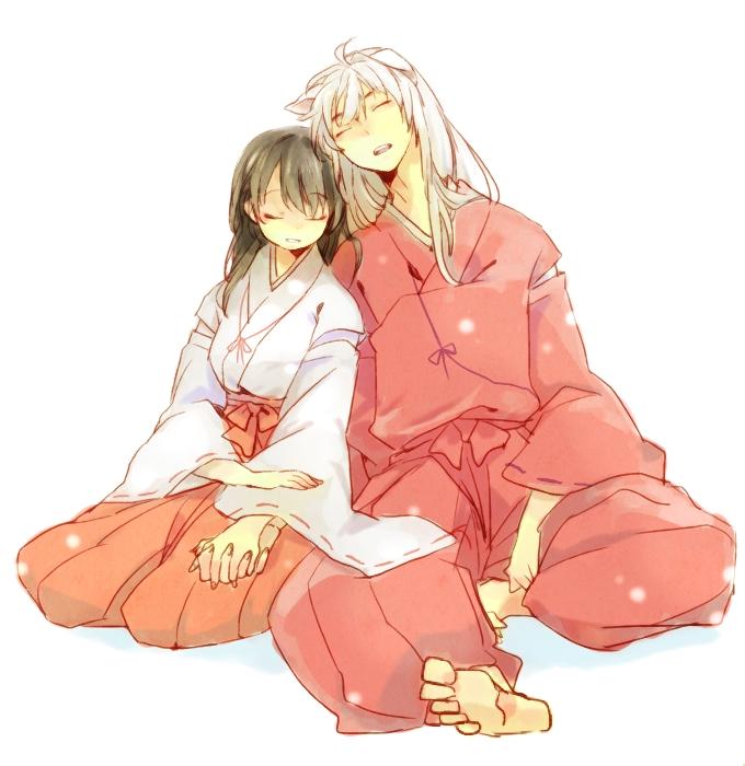 Tags: Anime, Pixiv Id 3385836, InuYasha, InuYasha (Character), Higurashi Kagome, Sashinuki, Fanart From Pixiv, Fanart, Pixiv