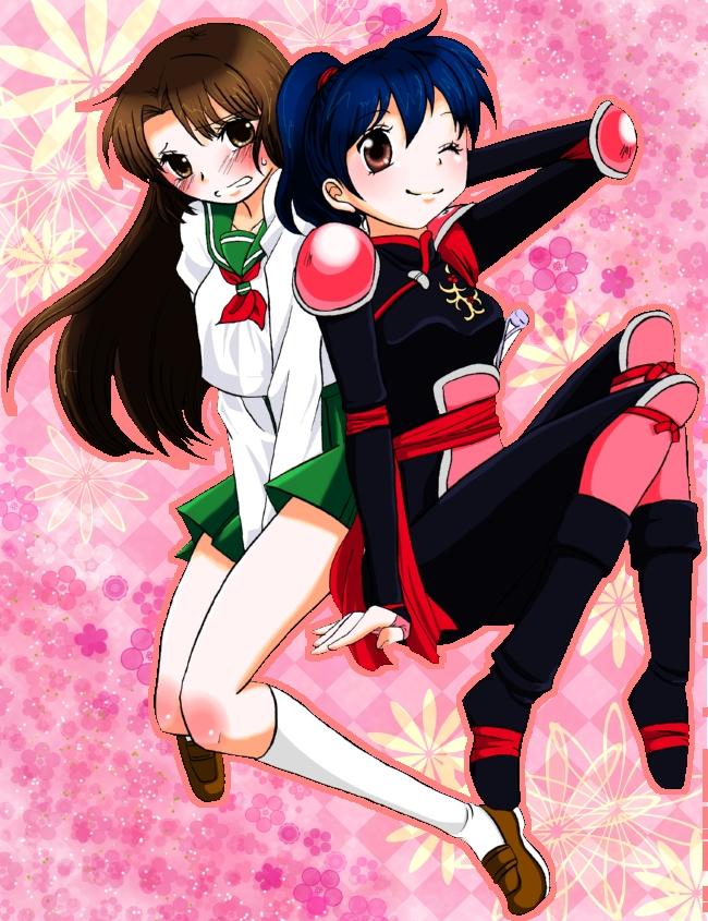 Tags: Anime, Pixiv Id 273632, InuYasha, Higurashi Kagome, Sango, Sango (cosplay), Higurashi Kagome (Cosplay), Fanart