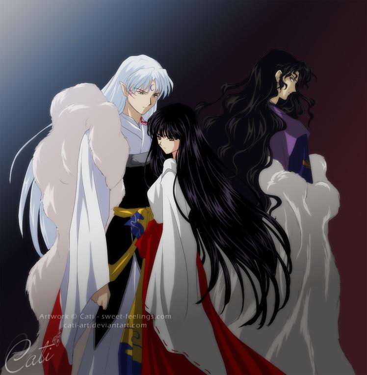 Tags Anime InuYasha Sesshoumaru Kikyo Naraku Beautiful