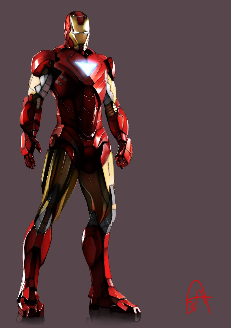 Iron man character mobile wallpaper 448814 zerochan - Iron man wallpaper anime ...