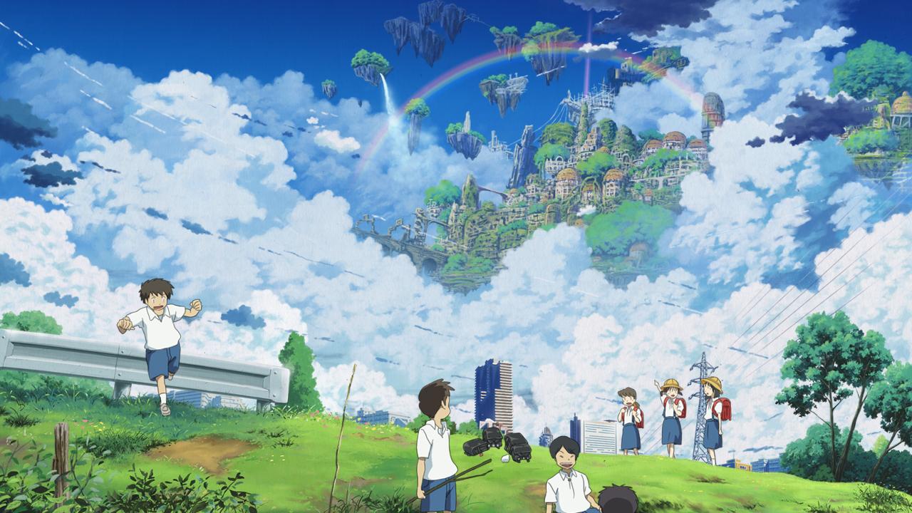 Anime Floating Island City