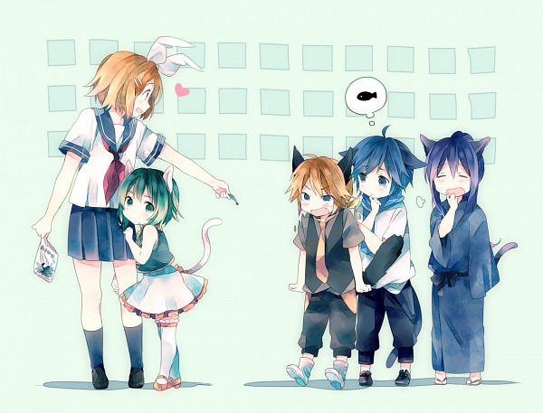 Tags: Anime, Ousaka Nozomi, Vocaloid, Kagamine Len, GUMI, Kagamine Rin, Kamui Gakupo