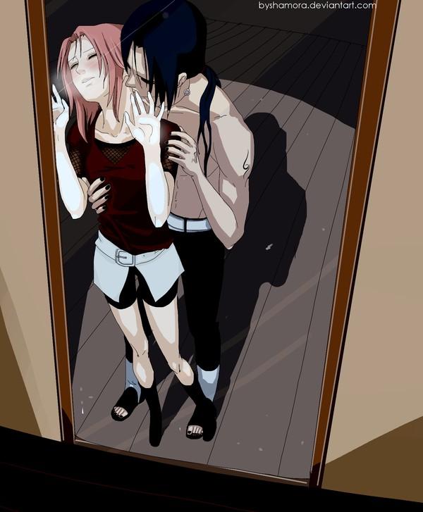 Tags: Anime, NARUTO, Uchiha Itachi, Haruno Sakura, Kiss On The Neck, Fanart, deviantART, ItaSaku