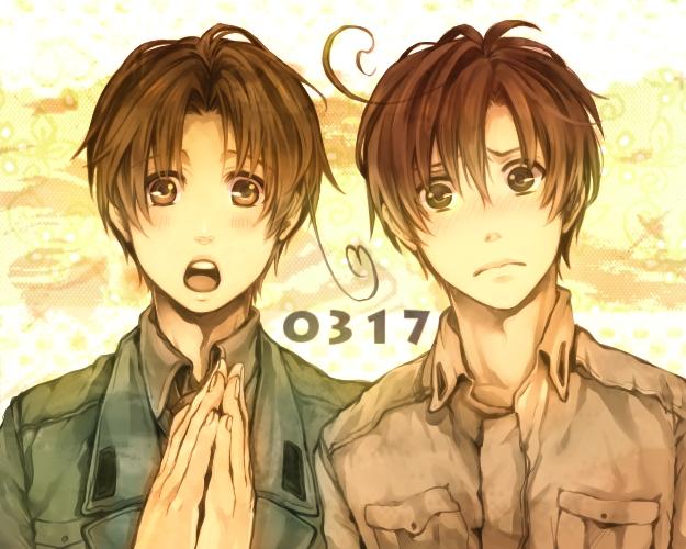 Tags: Anime, Shina-love, Axis Powers: Hetalia, South Italy, North Italy, Sad, Clap