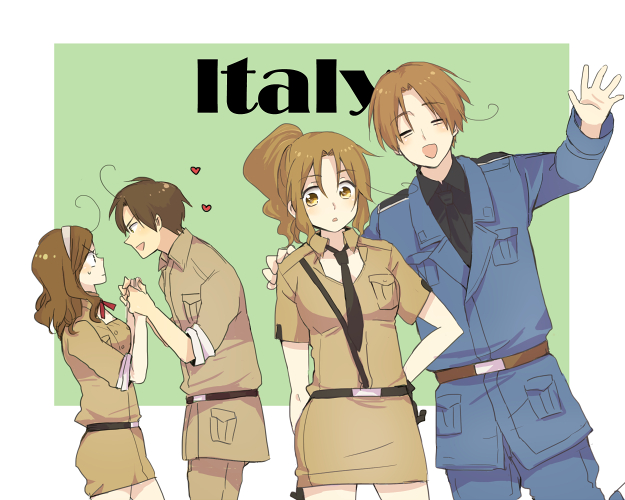 Tags: Anime, Pixiv Id 413733, Axis Powers: Hetalia, North Italy, South Italy (Female), North Italy (Female), South Italy, Pixiv, PNG Conversion, Nyotalia, Fanart, Fanart From Pixiv, Italy Brothers