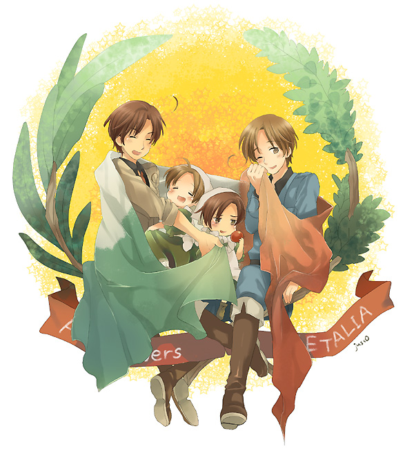 Tags: Anime, Axis Powers: Hetalia, South Italy, Chibitalia, Chibimano, North Italy, Axis Power Countries, Italy Brothers, Mediterranean Countries