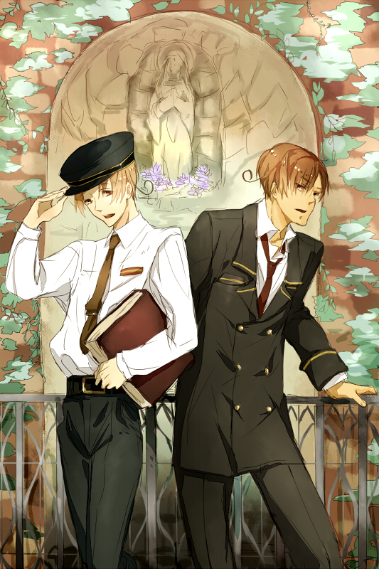 Tags: Anime, Axis Powers: Hetalia, North Italy, South Italy, Mobile Wallpaper, Italy Brothers, Mediterranean Countries, Axis Power Countries