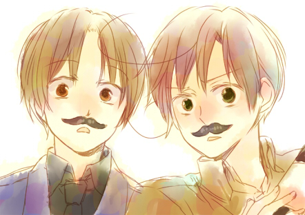Tags: Anime, Nikawa, Axis Powers: Hetalia, South Italy, North Italy, Fanart, Pixiv, Italy Brothers