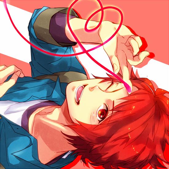 Tags: Anime, China (Pixiv3079766), Uta no☆prince-sama♪, Ittoki Otoya, Sideways, Heart Line