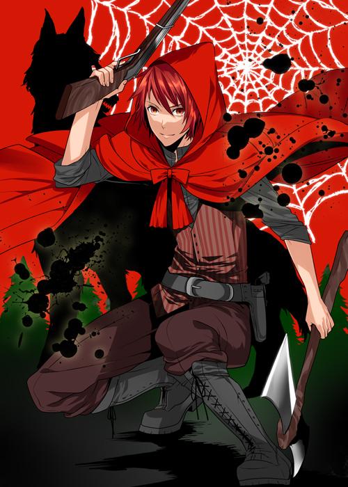 Tags: Anime, Roa Huduki, Red Riding Hood, Uta no☆prince-sama♪, Ittoki Otoya, Spider Web, Pixiv, Mobile Wallpaper, Fanart