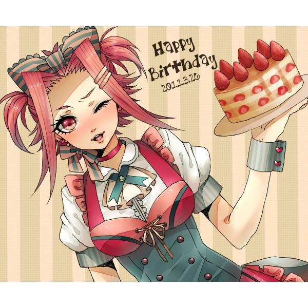 Tags: Anime, Yu-Gi-Oh!, Yu-Gi-Oh! 5D's, Izayoi Aki, Strawberry Shortcake, Pixiv, Akiza Izinski