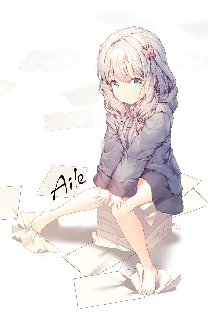 Tags: Anime, Aile (Pixiv946272), Eromanga Sensei, Izumi Sagiri, Revision, PNG Conversion, Mobile Wallpaper