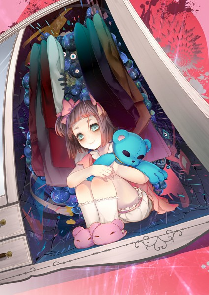 Tags: Anime, J.Lili, Little Girl, Stuffed Bear