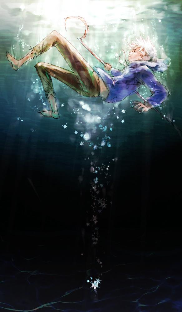 Tags: Anime, FLAFLY, Rise of the Guardians, Jack Frost, Drown, Blue Hoodie, Fanart From DeviantART, deviantART, Fanart, Mobile Wallpaper