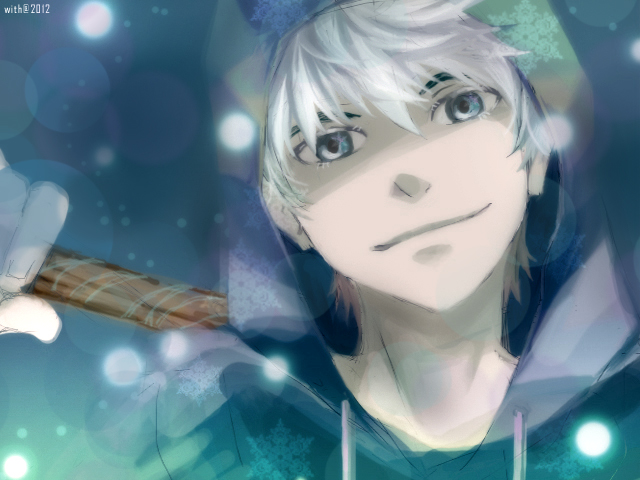 Tags: Anime, Semokan, Rise of the Guardians, Jack Frost, Blue Hoodie, Fanart From DeviantART, deviantART, Fanart