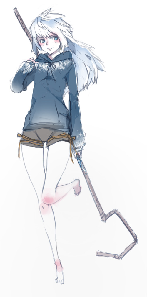 Tags: Anime, tri-bby, Rise of the Guardians, Jack Frost, Blue Hoodie, Fanart