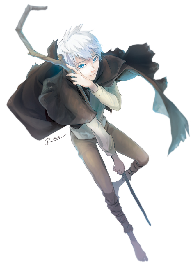 Tags: Anime, Rahwia Kim, Rise of the Guardians, Jack Frost, Glow, Blurry, Staff