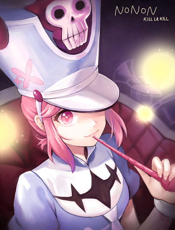 Tags: Anime, Azure090, KILL la KILL, Jakuzure Nonon, Hat Over One Eye