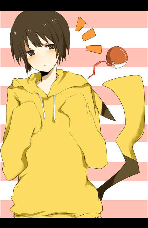 Tags: Anime, Mono (Recall), Axis Powers: Hetalia, Japan, Pikachu (Cosplay), Mobile Wallpaper, Fanart, Pixiv