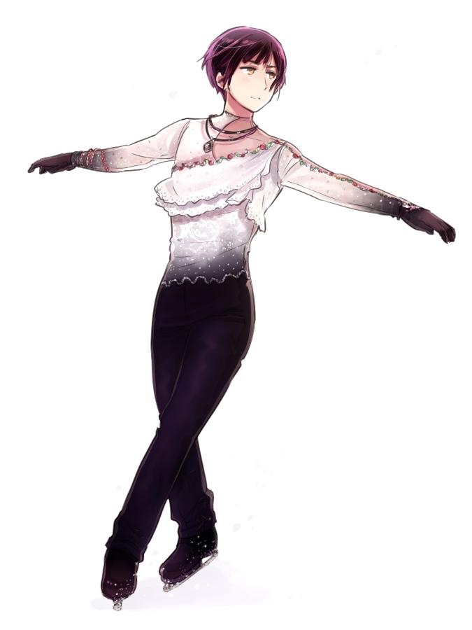 Tags: Anime, Rosel D, Axis Powers: Hetalia, Japan, Ice Skating, Ice Skates, Figure Skating, Yuzuru Hanyu (Cosplay), Pixiv, Fanart, Fanart From Pixiv