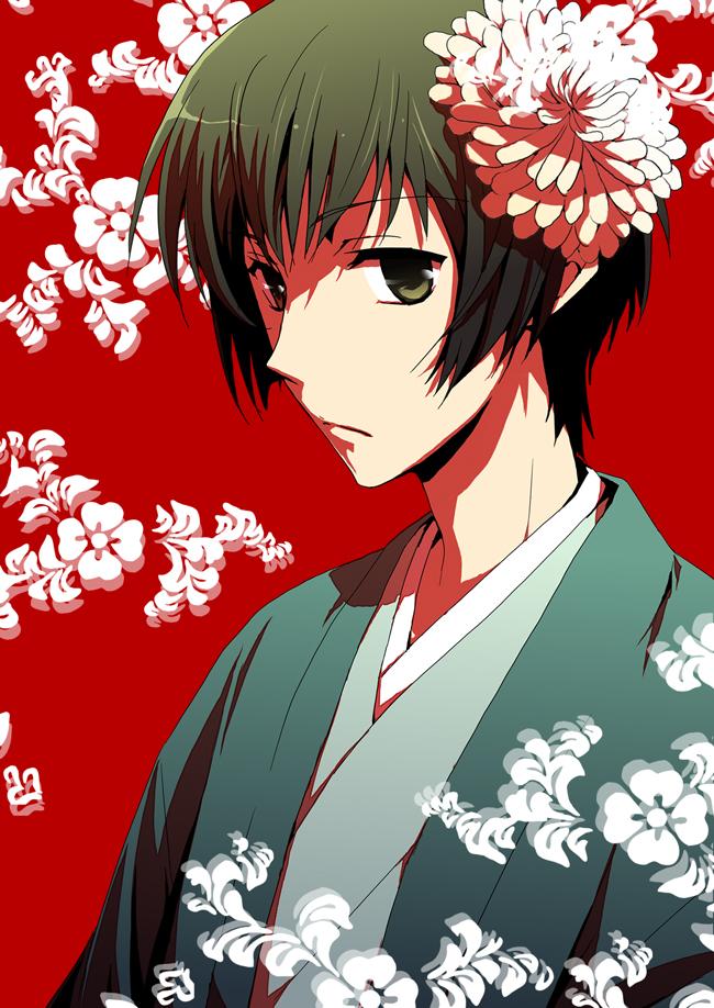 Tags: Anime, Migu, Axis Powers: Hetalia, Japan, Chrysanthemum, Fanart, Pixiv