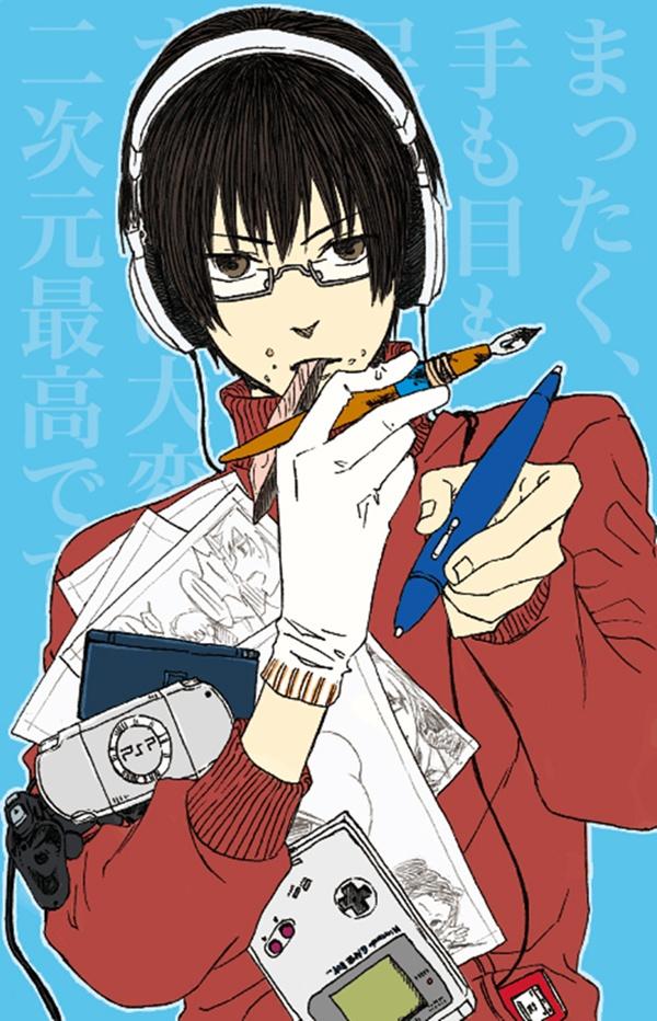 Game boy video games zerochan anime image board - Anime gamer boy ...