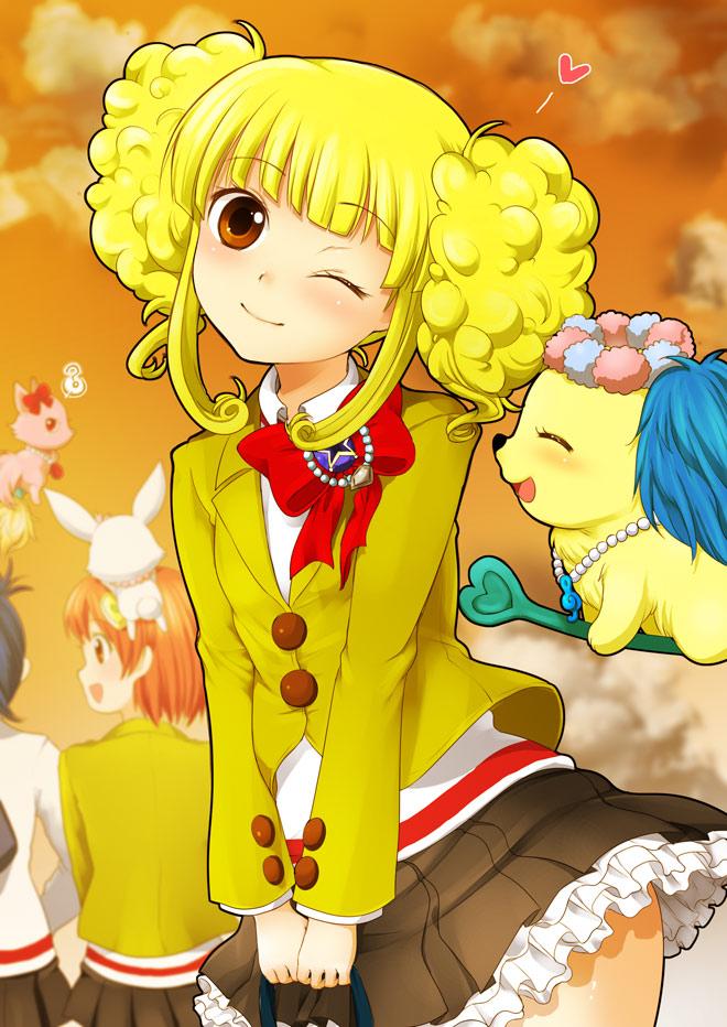Tags: Anime, Miyano Ururu, Jewelpet, Kougyoku Rinko, Sapphy, Asaoka Minami, Garnet (Jewelpet), Arisugawa Aoi, Ruby (Jewelpet), Fanart, Jewel Pets