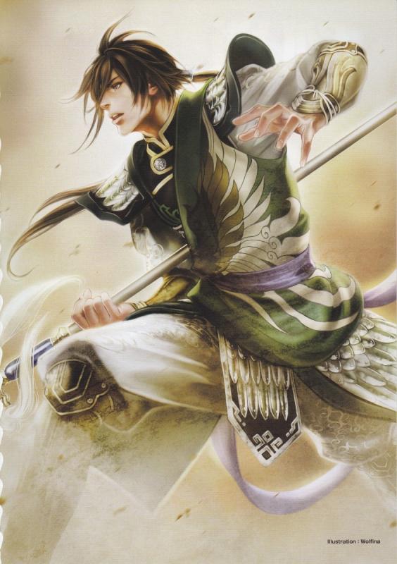 Tags: Anime, Wolfina, Koei, Dynasty Warriors, Jiang Wei, Mobile Wallpaper