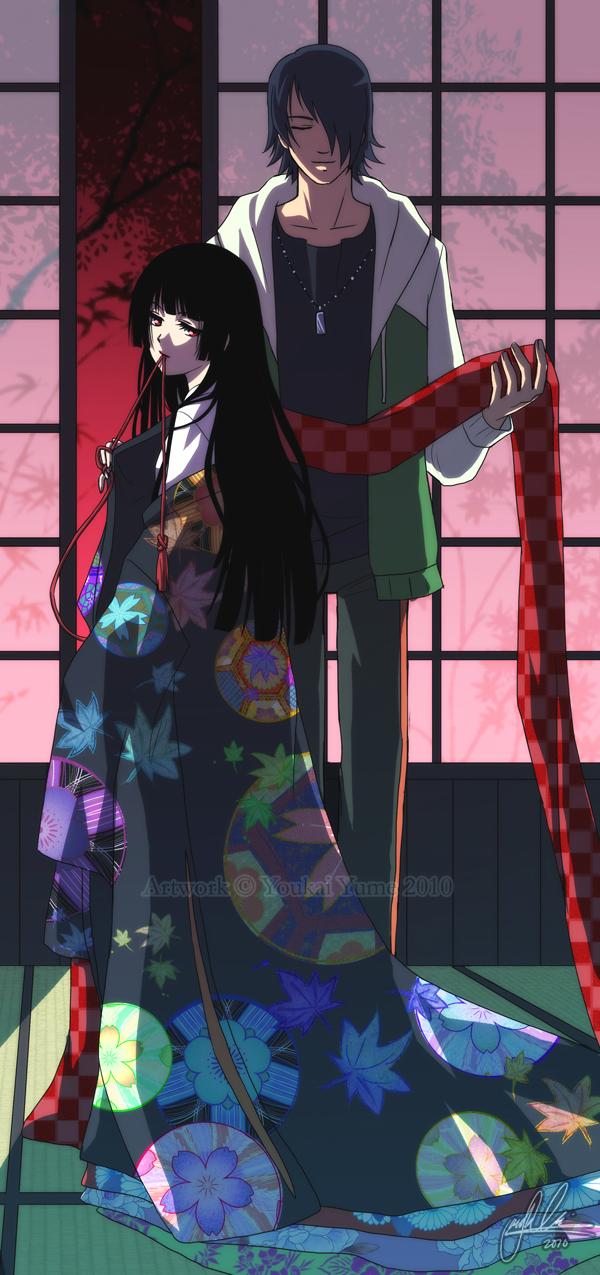 Jigoku Shoujo Ai And Ren Creativehobbystore