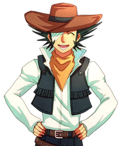Tags: Anime, Pixiv Id 213412, Yu-Gi-Oh!, Yu-Gi-Oh! GX, Jim Crocodile Cook, Brown Hat, Cowboy, Brown Headwear, Orange Neckwear, Pixiv, Fanart From Pixiv, Fanart