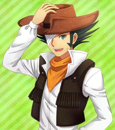 Tags: Anime, Pixiv Id 213412, Yu-Gi-Oh!, Yu-Gi-Oh! GX, Jim Crocodile Cook, Cowboy, Brown Headwear, Orange Neckwear, Brown Hat, Pixiv, Fanart From Pixiv, Fanart