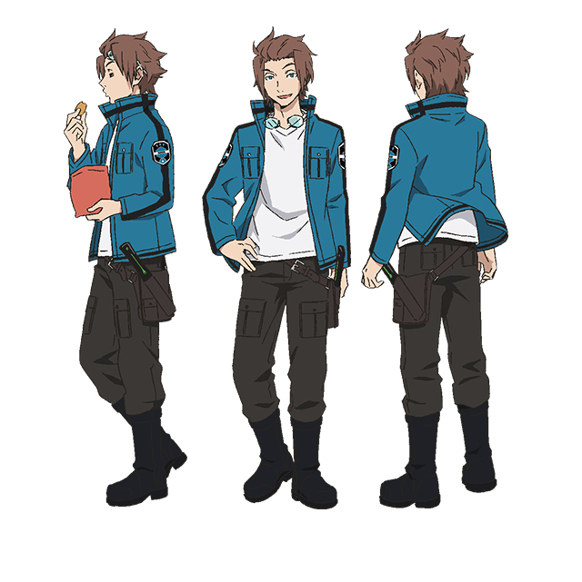 Tags: Anime, Toei Animation, World Trigger, Jin Yuuichi, Cover Image, PNG Conversion, Official Art