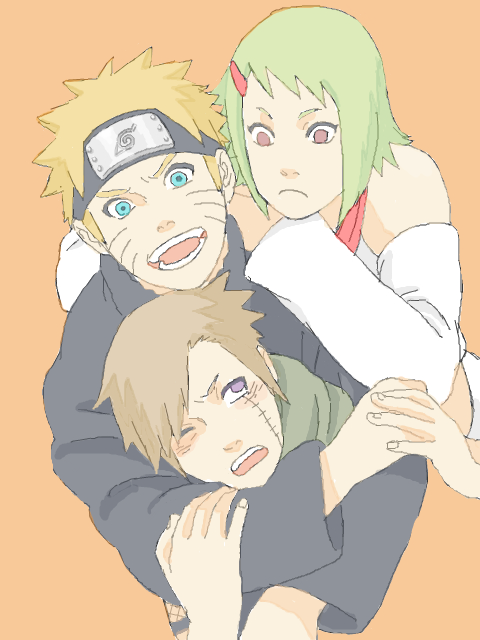 Tags: Anime, Fukusuuuke, NARUTO, Fuu (NARUTO), Uzumaki Naruto, Yagura, Looking Up