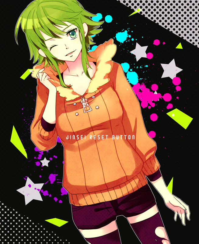 Tags: Anime, Pixiv Id 1907883, VOCALOID, GUMI, Jinsei Reset Button, Life Reset Button