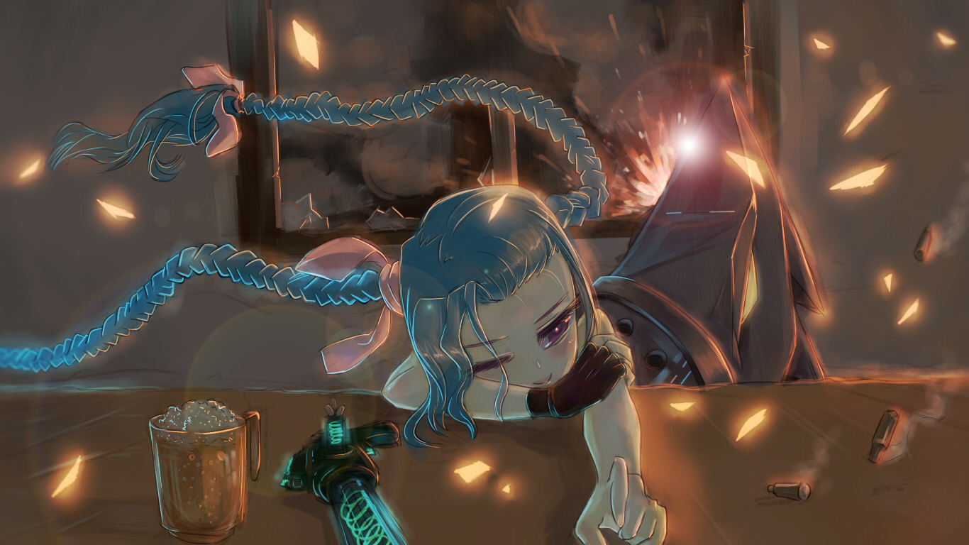 Jinx League Of Legends Zerochan Anime Image Board