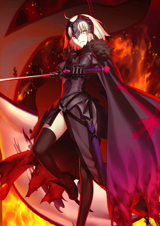 Tags: Anime, Takeuchi Takashi, DELiGHTWORKS, Fate/Grand Order, Joan Alter, Joan of Arc (Fate/Apocrypha), La Grondement Du Haine, Official Art, Official Card Illustration