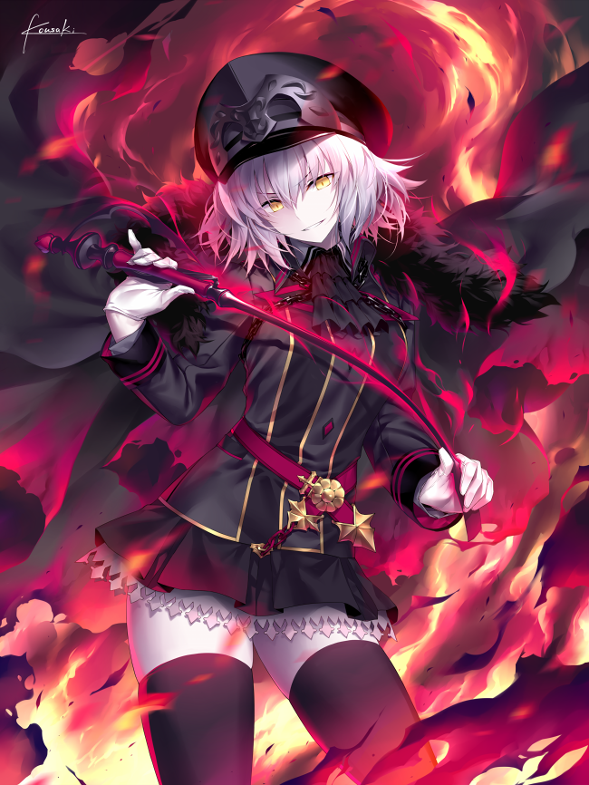Tags: Anime, Kousaki Rui, Fate/Grand Order, Joan of Arc (Fate/Apocrypha), Joan Alter, Riding Crop
