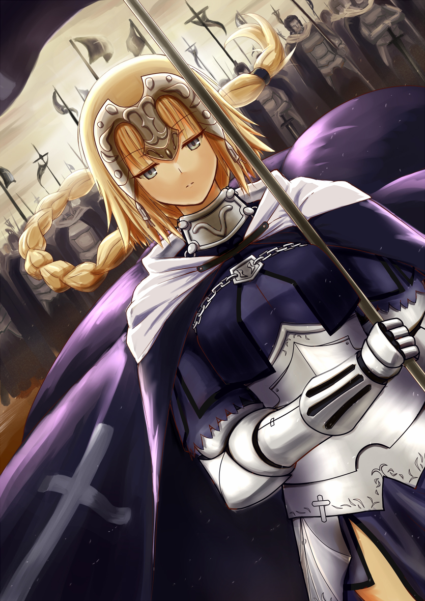 Image Result For Joan Of Arc Fate Apocrypha Mobile Wallpaper Zerochan Anime Image Board