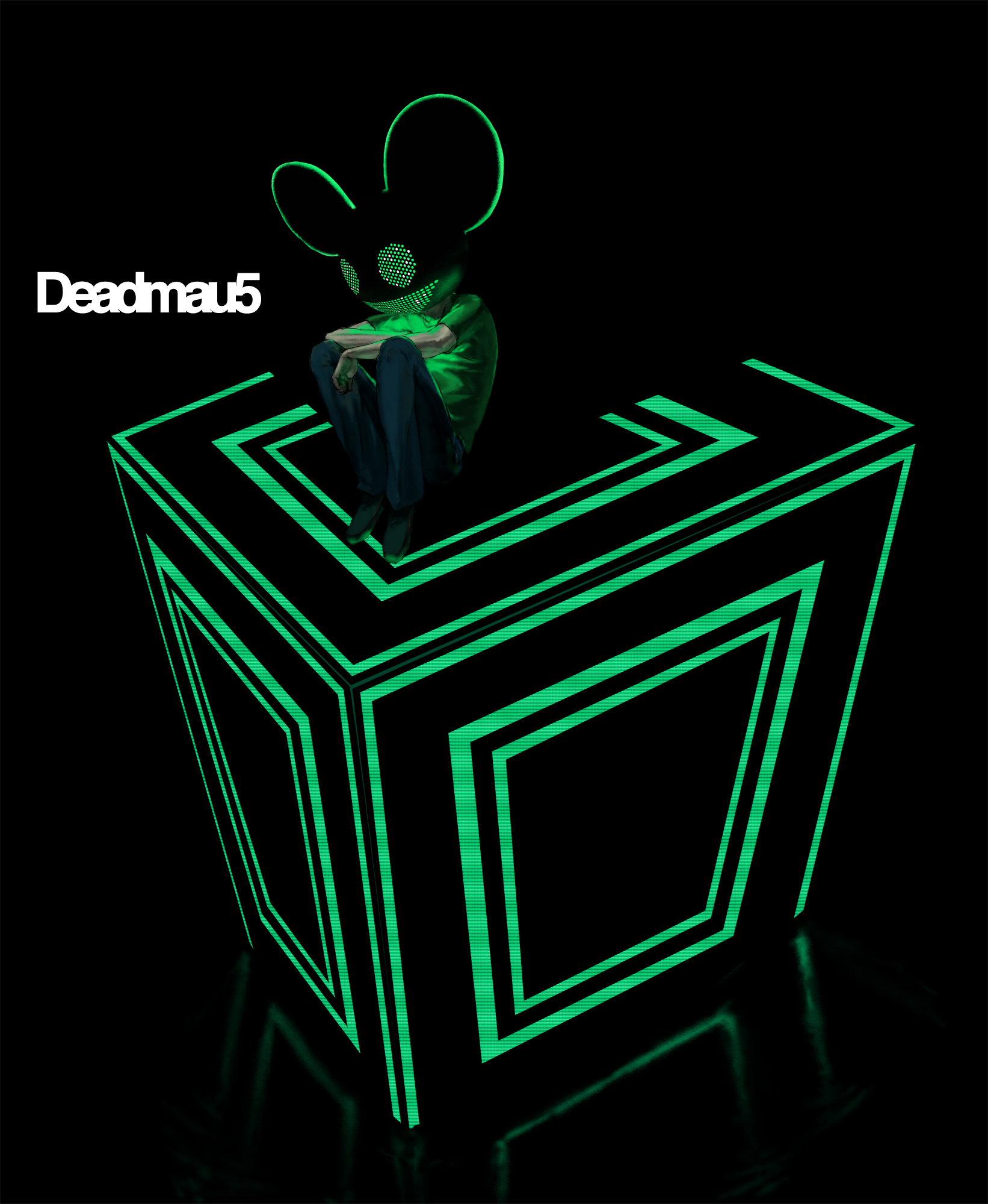 deadmau5 green wallpaper - photo #23