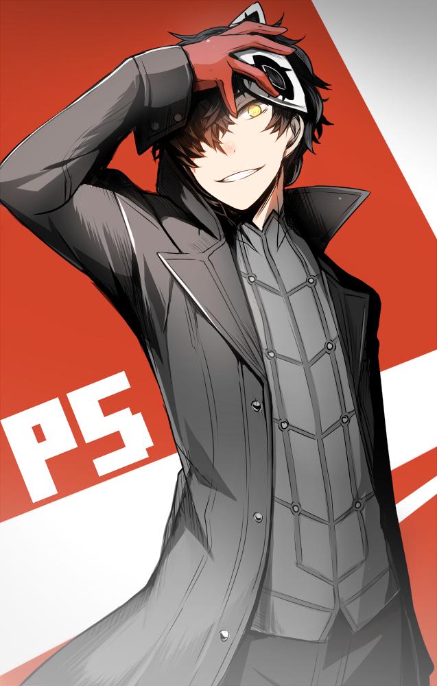 Tags: Anime, Somnium, Shin Megami Tensei: PERSONA 5, Joker (Persona 5), Amamiya Ren (Persona 5), PNG Conversion, Mobile Wallpaper