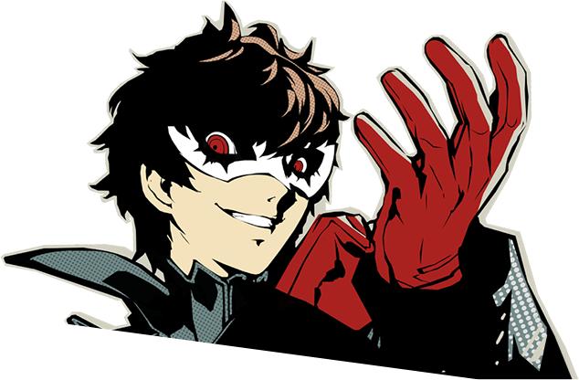 Tags: Anime, Soejima Shigenori, Atlus, Shin Megami Tensei: PERSONA 5, Amamiya Ren (Persona 5), Joker (Persona 5), PNG Conversion, Official Art